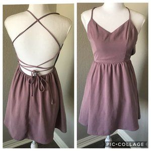 Tobi Small Mauve Purplish Strappy Back Dress